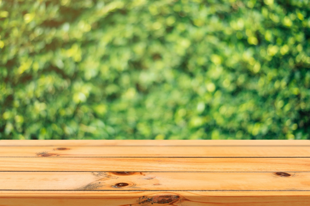 gepflegtes Holz